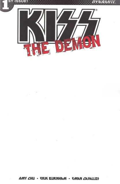 Kiss the Demon #1 Blank Authentix Sketch Variant Dynamite Comics 2017