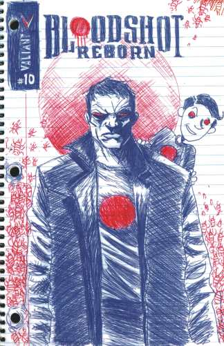 Bloodshot Reborn #10 1:100 Jeff Lemire Linewide Variant Valiant Rare HTF!