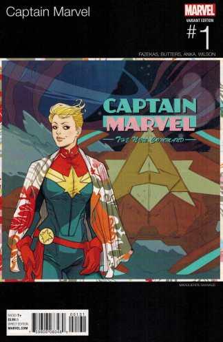 Captain Marvel #1 Marguerite Sauvage Hip Hop Variant ANAD 2016 Iggy Homage