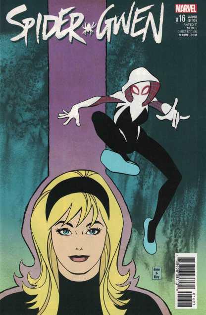 Spider-Gwen #16 1:25 June Brigman Classic Variant ANAD Marvel 2015 Spider-Man