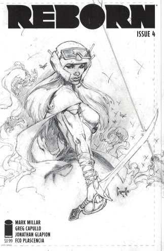 Reborn #4 1:100 Greg Capullo Sketch Variant Cover C Image Comics 2016 Millar