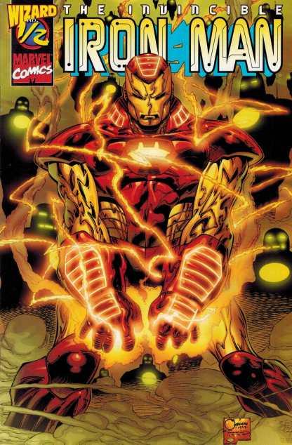 Invincible Iron Man #1/2 Wizard Magazine