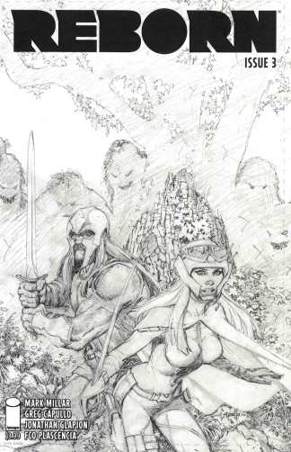 Reborn #3 1:100 Greg Capullo Sketch Variant Cover B Image Comics 2016 Millar