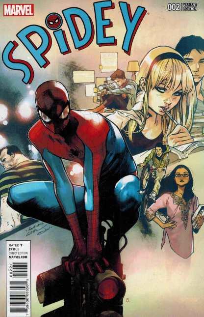 Spidey #2 1:25 Oliver Coipel Variant Marvel ANAD 2015