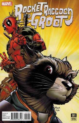 Rocket Raccoon and Groot #1 1:10 Nauck Deadpool Variant ANAD Marvel 2016
