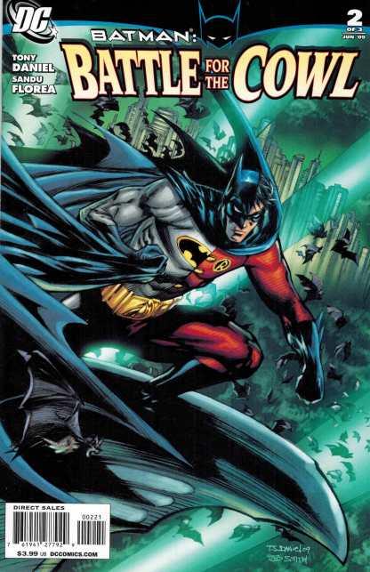 Batman Battle for the Cowl #2 1:10 Tony Daniel Variant DC 2009 Robin