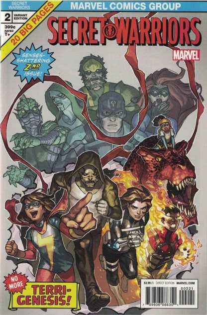 Secret Warriors #2 1:25 Yasmine Putri Variant Marvel 2017
