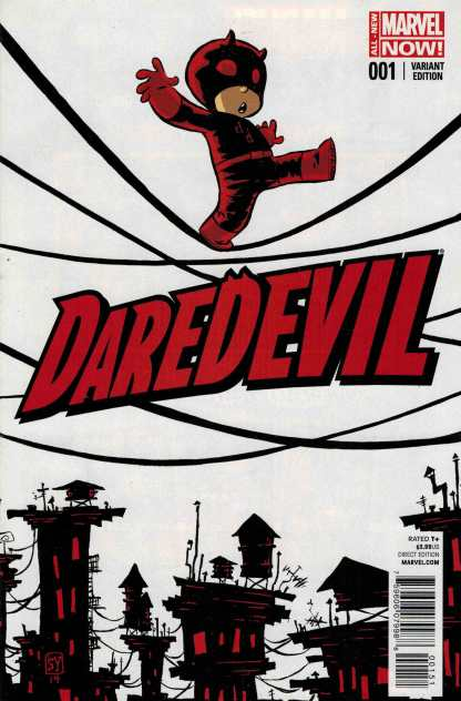 Daredevil #1 Skottie Young Baby Variant All New Marvel Now ANMN 2014 Tightrope