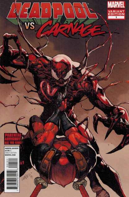 Deadpool Vs Carnage #1 1:25 Lenil Francis Yu Variant Marvel 2014