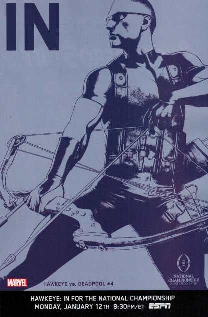 Hawkeye vs Deadpool #4 IN Variant ESPN 1:10
