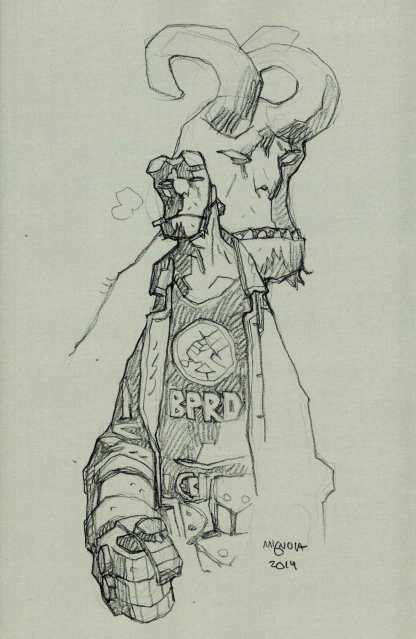 Hellboy and the BPRD #1 1:50 Mingola Sketch Variant HTF B.P.R.D.