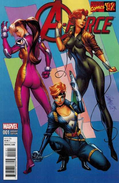 A-Force #1 1:20 J Scott Campbell Marvel 92 Variant ANAD 2016 Dazzler
