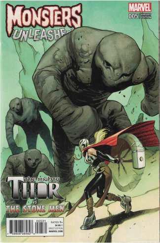 Monsters Unleashed #5 1:100 Sara Pichelli Variant Marvel 2016