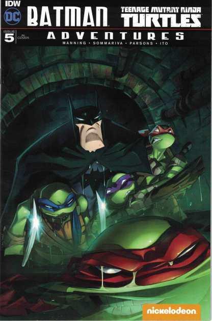 Batman TMNT Adventures #5 1:10 Jeff Matsuda RI Variant DC 2016