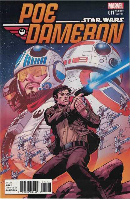 Star Wars Poe Dameron #11 1:25 Reilly Brown Variant Marvel 2016