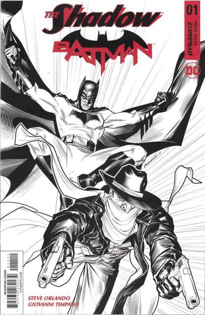 Shadow Batman #1 1:30 Brandon Peterson B&W Variant Dynamite Cvr K 2017