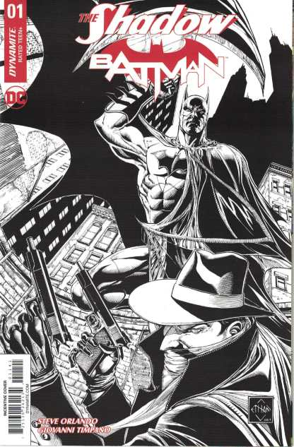 Shadow Batman #1 1:75 Noah Van Sciver B&W Variant Dynamite Cvr N 2017