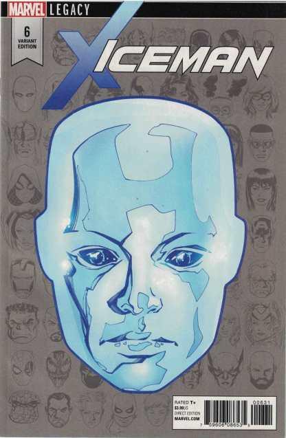 Iceman #6 1:10 Mike McKone Legacy Headshot Variant Marvel 2017