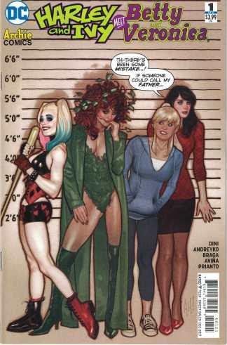 Harley & Ivy Meet Betty & Veronica #1 Adam Hughes Variant DC 2017