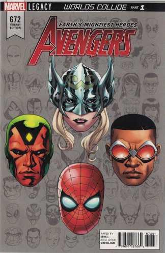 Avengers #672 1:10 Mike McKone Legacy Headshot Variant Marvel
