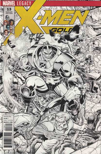X-Men Gold #13 1:50 Adams Sketch Connecting Variant A Marvel Legacy 2017