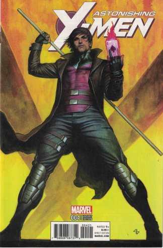 Astonishing X-Men #4 1:10 Adi Granov Character Variant Marvel 2017 Gambit
