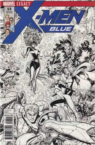 X-Men Blue #13 1:50 Arthur Adams Sketch Connecting Variant Legacy 2017