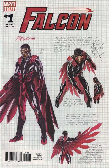 Falcon #1 1:100 Alex Ross Design Variant Marvel Legacy 2017