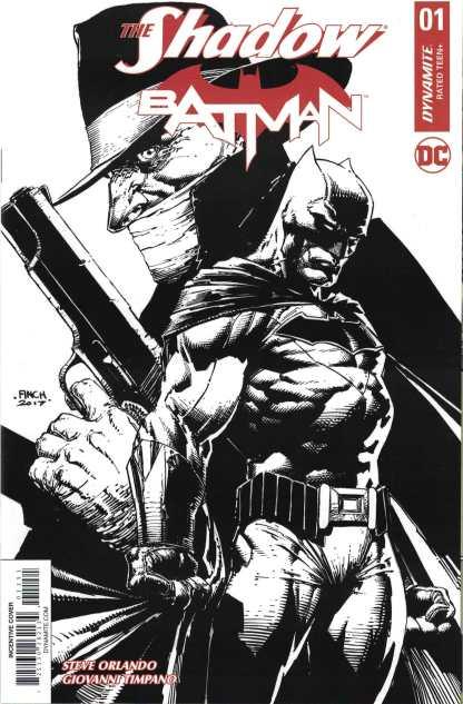 Shadow Batman #1 1:100 David Finch Black & White Variant Dynamite 2017