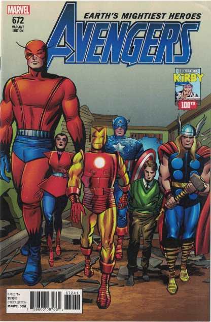 Avengers #672 1:10 Jack Kirby 100 Variant Marvel Legacy