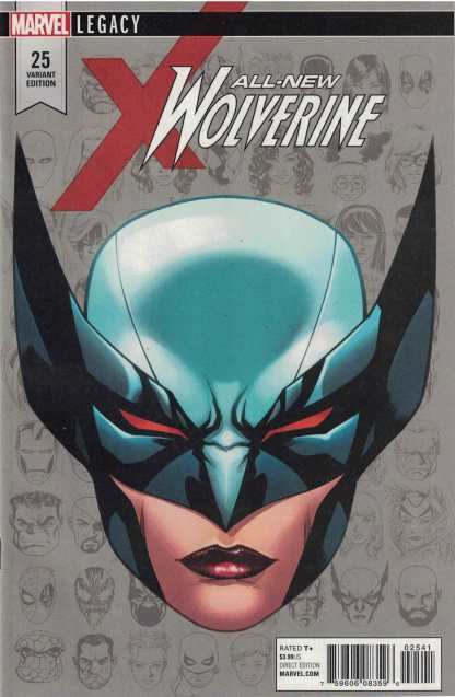 All-New Wolverine #25 1:10 Mike McKone Headshot Variant Marvel Legacy 2015