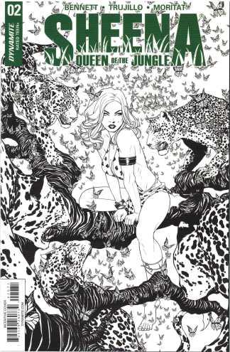 Sheena #2 1:25 Mike McKone Black & White Variant Dynamite 2017