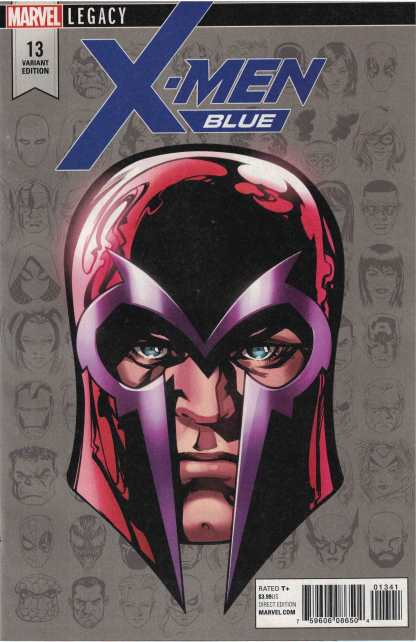 X-Men Blue #13 1:10 Mike McKone Headshot Variant Marvel Legacy 2017