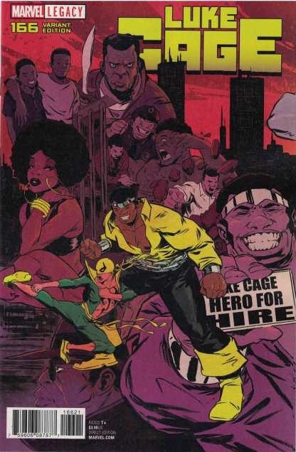 Luke Cage #166 1:15 Sanford Greene Connecting Variant Marvel Legacy