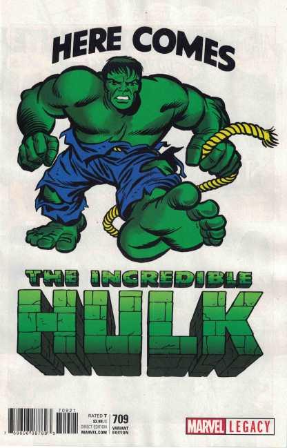 Incredible Hulk #709 1:50 Jack Kirby 1965 T-Shirt Variant Marvel Legacy