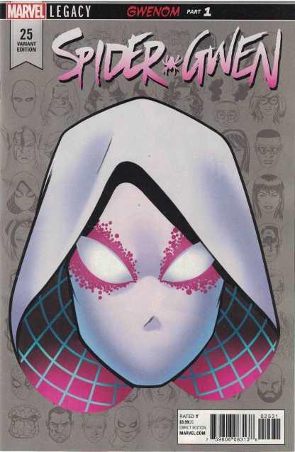 Spider-Gwen #25 1:10 Mike McKone Headshot Variant Marvel Legacy