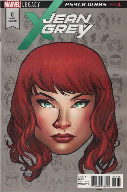Jean Grey #8 1:10 Mike McKone Headshot Variant Marvel Legacy 2017