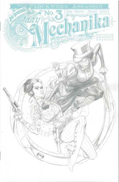 Lady Mechanika Clockwork Assassin #3 1:10 Joe Benitez Sketch Variant