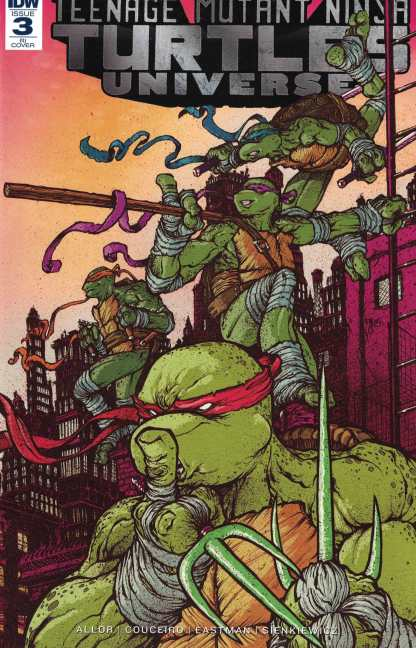 TMNT Universe #3 1:10 Ryan Lee Retailer Incentive Variant IDW 2016 Turtles