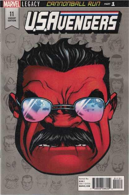 U.S Avengers #11 1:10 Mike McKone Headshot Variant Marvel Legacy