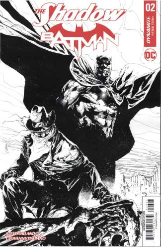 Shadow Batman #2 1:10 Philip Tan Black & White Variant Dynamite 2017