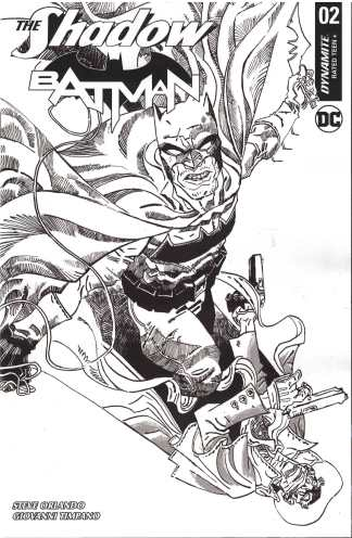 Shadow Batman #2 1:30 Artyom Trakhanov Black & White Variant Dynamite 2017