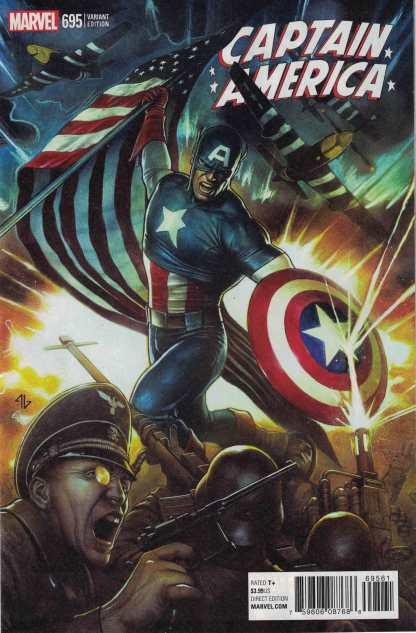 Captain America #695 1:25 Adi Granov Variant Marvel Legacy