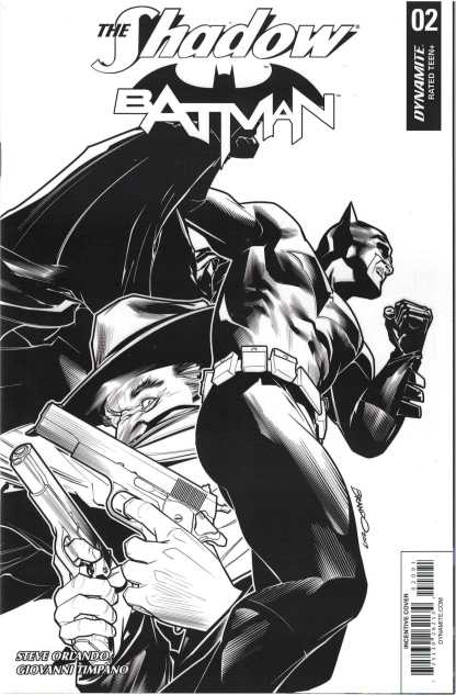 Shadow Batman #2 1:40 Brandon Peterson Black & White Variant Dynamite 2017