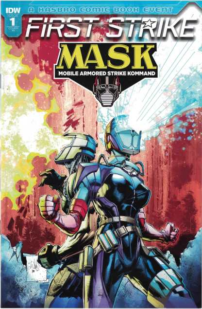 Mask First Strike #1 1:10 Whilce Portacio Variant IDW 2017