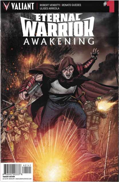 Eternal Warrior Awakening #1 1:10 Marc Laming Valiant Variant 2017