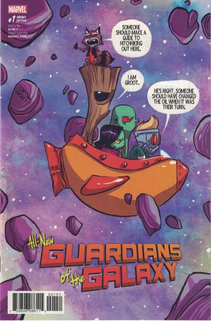 All-New Guardians of the Galaxy #1 Unlocked Skottie Young Variant Marvel 2017
