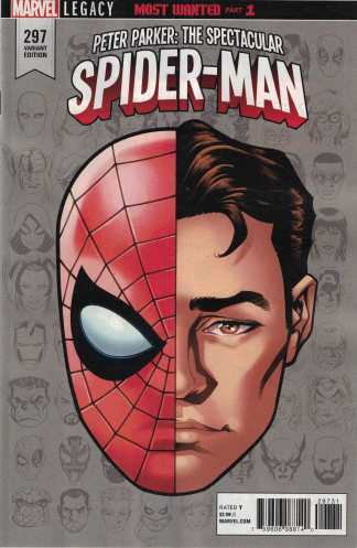 Peter Parker Spectacular Spider-Man #297 1:10 Mike McKone Headshot Variant