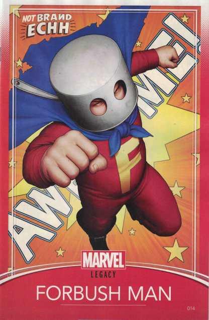 Not Brand Echh #14 John Tyler Christopher Trading Card Variant Marvel Legacy
