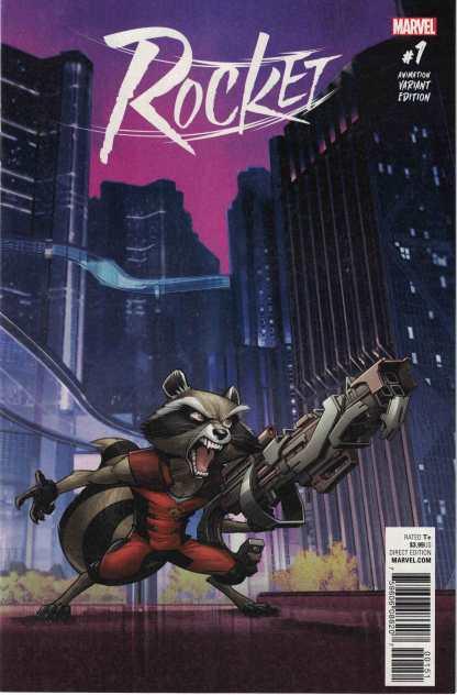 Rocket #1 1:15 Animation Variant Marvel 2017 Raccoon Guardians Galaxy